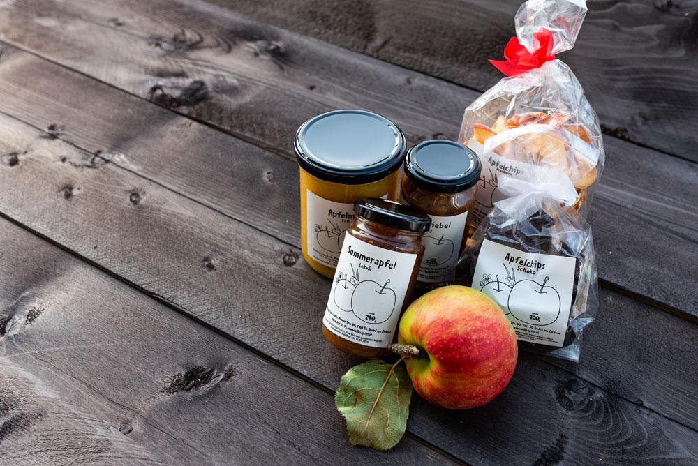 Obstbau Leeb - Apfelchips, Apfel, Apfelmus